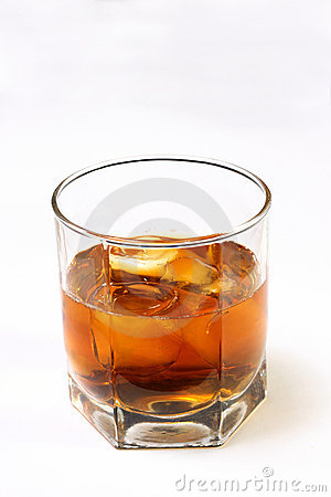 The glass with a whisky