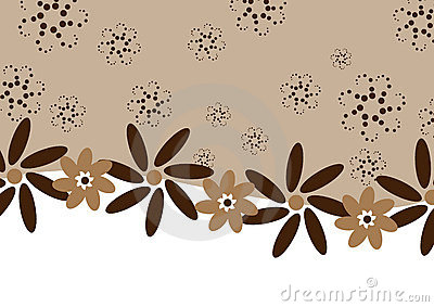 Chocolate coffee flowers - banner