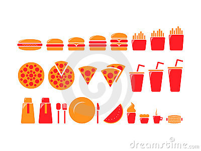 Fast food iconset