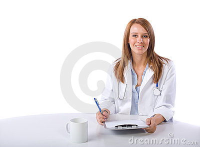 Female doctor in a modern office