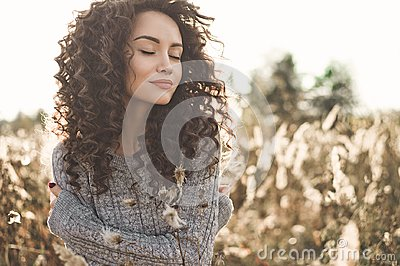 Atmospheric portrait of beautiful young lady