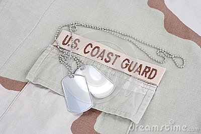 US COAST GUARD branch tape with d