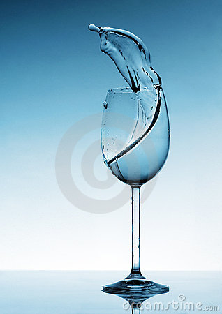 Liquid Splashing from a Wine Glass