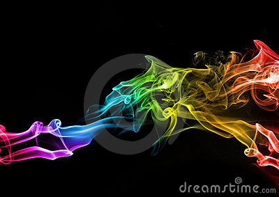 Abstract Colourful Smoke
