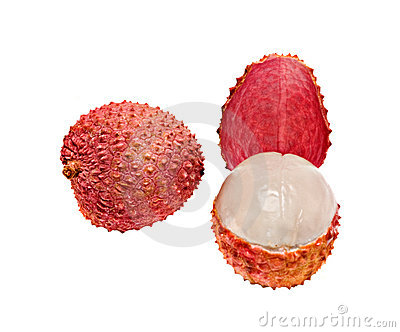 Lychee and peeled lychee
