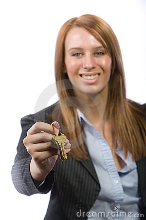 Female real estate agent