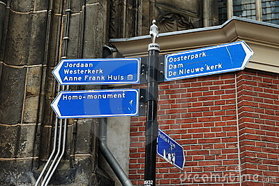 Information sign in Amsterdam
