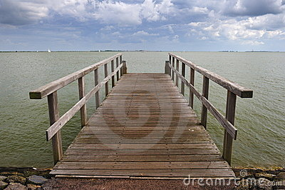 Wooden pier in the Netherlands