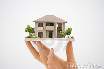 Model House with a Hand