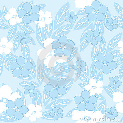 Blue seamless flowers