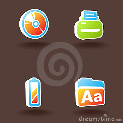 Vector web icons. Set 7