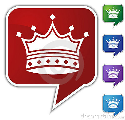 Speech Bubble Set - Crown