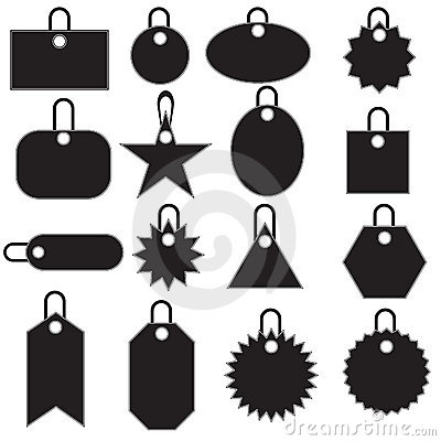 Multiple Tag Icons - black