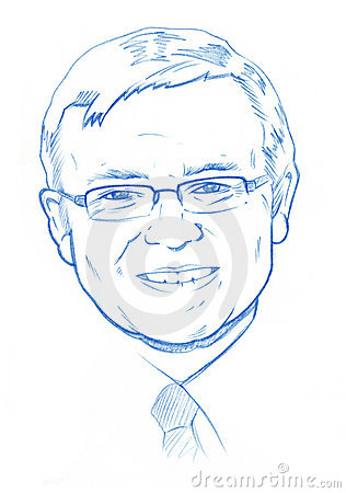 Kevin Rudd portrait - Pencil Version