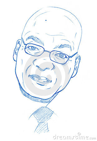 Jacob Zuma portrait - Pencil Version