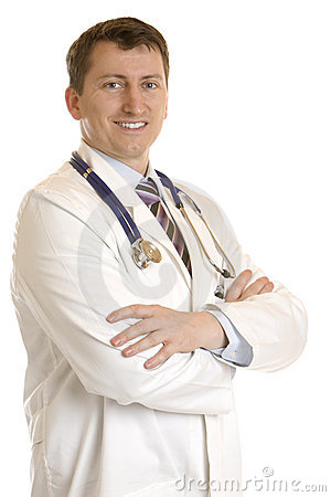 Happy, self-confident male medical doctor