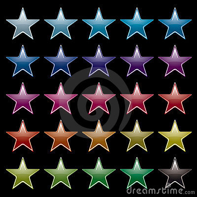 Star rainbow black