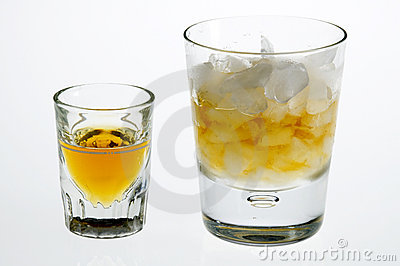 Whiskey neat and on the rocks