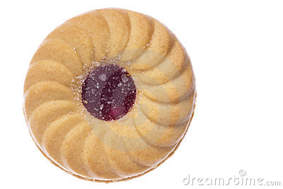 Jam Biscuit Macro Isolated