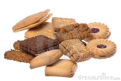 Assorted Biscuits Macro Isolated