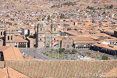 Panorama of Cusco city