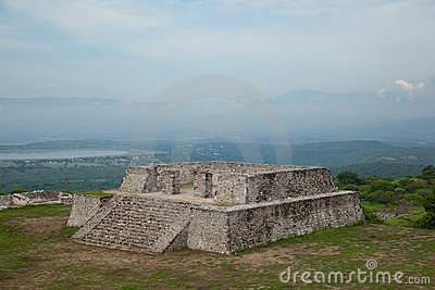 View of the Two Glifos Plaza in Xochicalco