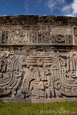 Temple of the Feathered Serpent detail