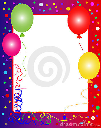 Party background with balloons