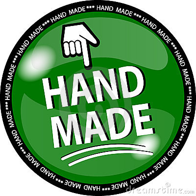 Green hande made button