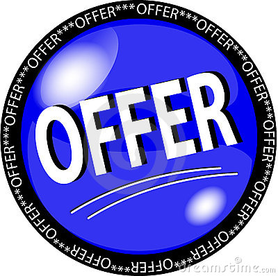 Blue offer button