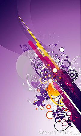 Abstract color vector