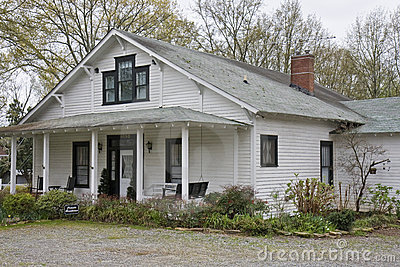 Old White Clapboard Farmhouse