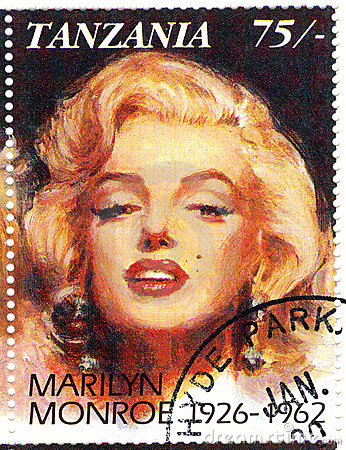 Stamp with Marilyn Monroe