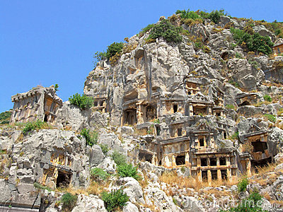 Lycian tombs in Demre (Myra)