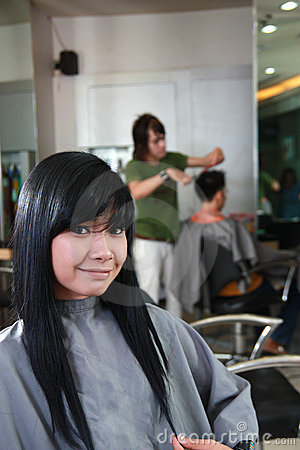 Hairstyle in salon