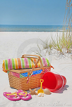 Beautiful beach picnic