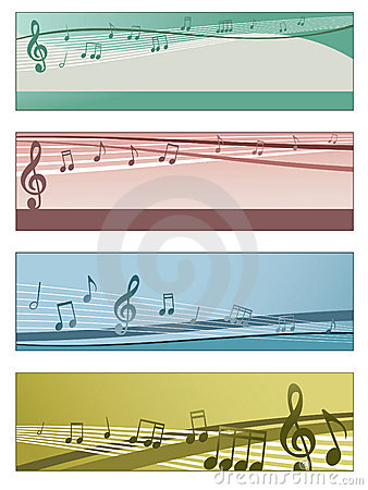 Musical banners