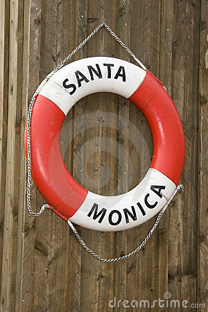 Life buoy of Santa Monica