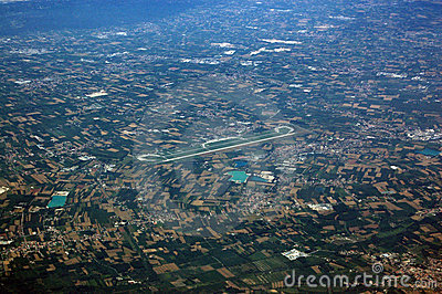 Verona Airport, arial view