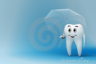 Tooth with umbrella