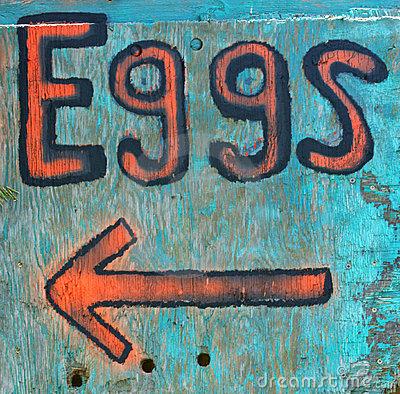 Rural New England eggs sign