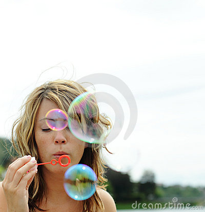 Bubbles blowing