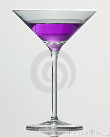 Purple drink in cocktail glass