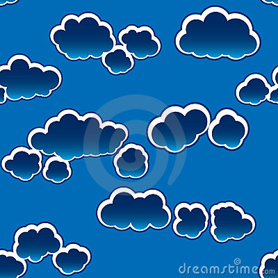 Abstract dark clouds background. Seamless.