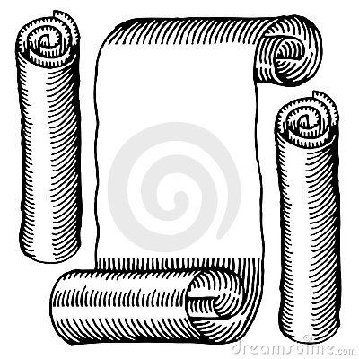 Paper rolls engraved black and white