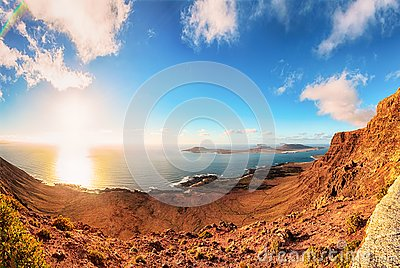 Panoramic view from Lanzarote