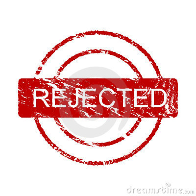Ink stamp: rejected (vector)