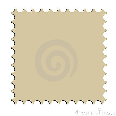 Square postage stamp border (vector)