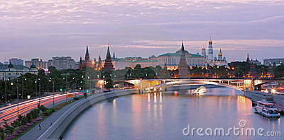 Moscow-river at centre