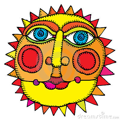 Sun in middle of summer